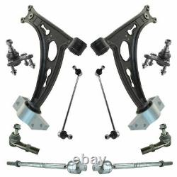 10 Piece Steering Suspension Kit Lower Control Arms Ball Joints Tie Rods Links