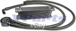 13 Reihen Ölkühler inkl. Anschluss Kit VW GOLF 1 2 3 4 5 6 GTI 16V G60 TURBO