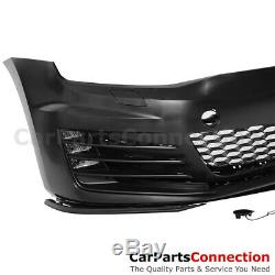 15-17 For Volkswagen Golf MK7 GTI Style Mesh Grille Red Trim Front Bumper Fog