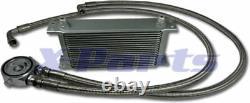 19 Reihen Ölkühler inkl. Anschluss Kit VW GOLF 1 2 3 4 5 6 GTI 16V G60 TURBO