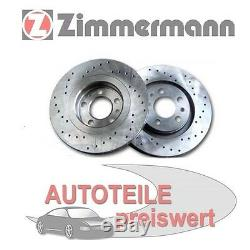 2 Zimmermann Sportbremsscheiben hinten Audi Seat Skoda VW