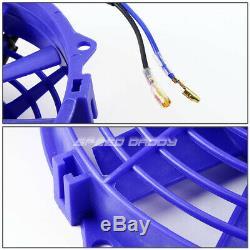 2-row Aluminum Radiator+2x 9 Fan Kit Blue For 99-06 Vw Golf/gti/audi A4 Mk4