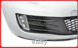 2010-2014 Volkswagen Golf GTI Style Front Bumper Cover Fog Light Grille Mesh Red