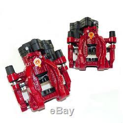 2x Bremssattel hinten rot 310mm Bremse VW Golf 7 GTI R Audi A3 S3 RS3 8V TT TTS