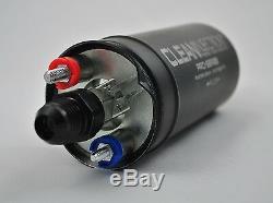 Black 340LPH -8 an8 8an 6an -6 an6 Fuel Pump surge tank kit 044 bosch external