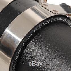 Black Alloy Front Mount Intercooler Kit Fmic For Vw Golf Mk4 Bora 1.8t 20v Gti