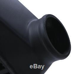 Black Alloy Front Mount Intercooler Kit Fmic For Vw Golf Mk4 Bora 1.8t Gti 20v
