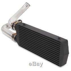 Black Aluminium Front Mount Intercooler Fmic Kit For Vw Golf Mk4 1.8t Gti 97-06