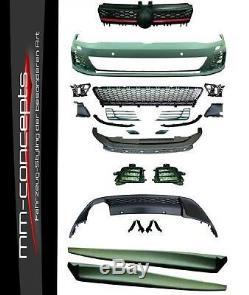 Bodykit für VW Golf 7 VII Stoßstange Seitenschweller Diffusor GTI Optik Look