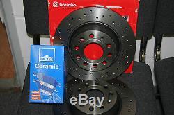 Brembo XTRA Bremsscheiben und Ate Ceramic-beläge Audi- Seat- VW (282mm) HA