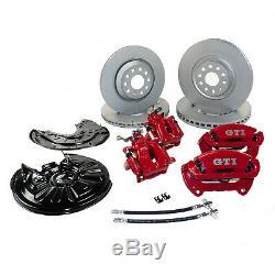 Bremse VW Golf VI 6 R GTI Scirocco III Bremssattel Scheiben VA 340mm HA 310mm