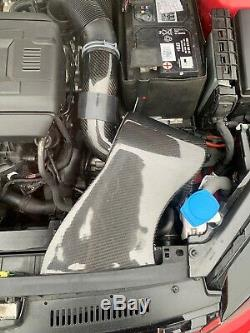 Carbon Fibre Intake Induction Kit Air Filter MQB VW Golf Mk7 R GTI Audi S3 8V