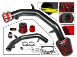 Cold Air Intake Kit MATT BLACK + RED For 99-04 Golf Jetta MK4 VR6 GTI 2.8L V6
