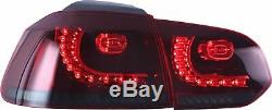 Customized RED SMOKED LED Taillights Taillamps for 08-13 MK6 GTI GTD TSI