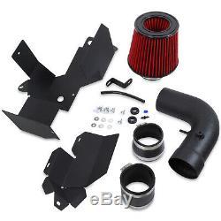 Direnza Red Short Air Filter Induction Kit For Vw Golf Mk5 1.9 2.0 Tdi Fsi Gti