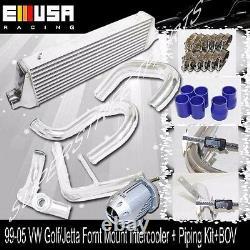 EMUSA FM Intercooler + Piping Kit+BOV fit 03-05 VW Golf Jetta GTI 1.8T Bolt on