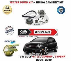 FOR VOLKSWAGEN VW GOLF 2.0 GTi 2004- TIMING BELT TENSIONER KIT + WATER PUMP SET