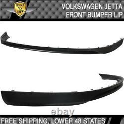 Fit 05-10 Volkswagen GTI MK5 Jetta Front Bumper Lip Spoiler Unpainted Black PU