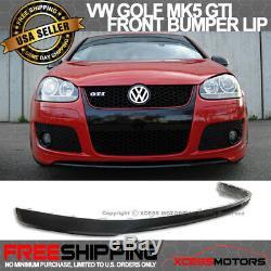 Fits 05-10 Volkswagen GTI MK5 Jetta Front Bumper Lip Unpainted Poly Urethane