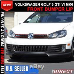 Fits 10-14 Volkswagen VW Golf 6 GTI RG Type Front Bumper Lip PU Urethane