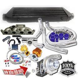 For 98-05 VW Golf Jetta GTI 1.8T Bolt on T3/T4 Turbo Kit+Oil Line Kits
