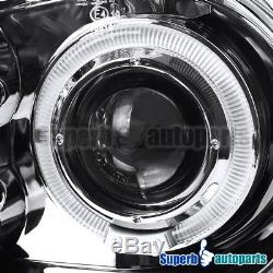 For 99-06 VW Golf GTI MK4 Halo Projector Clear Headlights Chrome+H1 Slim HID Kit