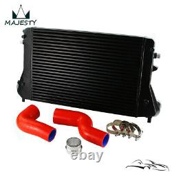 For A3/S3 VW Golf GTI Jetta MK5 MK6 Passat Front Mount Intercooler Kit Red