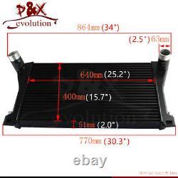 For Golf GTI R MK7 EA888 1.8T 2.0T TSI FMIC Tube Intercooler Air Cooler Kit