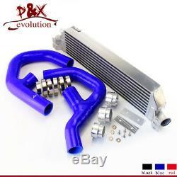 For VW Golf MK5 MK6 GTI FSI Jetta 2.0T A3 06-09 Turbo Twin Intercooler kit Blue