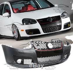 Front Bumper For Vw Golf 5 03-08 Gti Look Black Spoiler Body Kit New