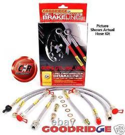 Golf 3 GTi, 16V Goodridge Braided Brake Hose Lines G11 SVW0604-6P 6 Line Kit VW