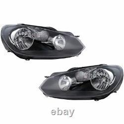 Headlight Lamp Halogen LH RH Kit Pair Set of 2 for VW Volkswagen Golf GTI New