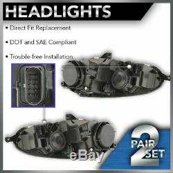 Headlights Headlamps Halogen Left & Right Pair Set for VW Rabbit Jetta Golf GTI