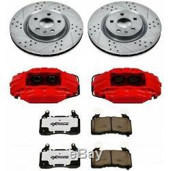 KC4623-26 Powerstop 2-Wheel Set Brake Disc and Caliper Kits Front for VW Sedan