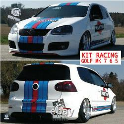 KIT MARTINI RACING GOLF MK 5 6 7 GTI sticker autocollant VOLKSWAGEN POLYMERE