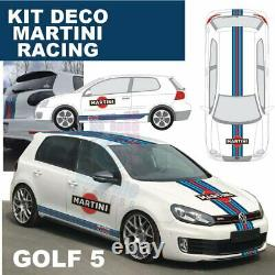 KIT Martini RACING volkswagen golf 5 stickers sticker autocollant RACING MK5 GTI