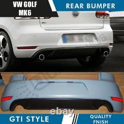 New Vw Golf Mk6 Gti Style Rear Bumper & Rear Diffuser Volkswagen Abs Pp Quality