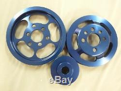 OBX Blue Lightweight Pulley Kit For 99-05 VW Golf GTI Jetta Bettle 1.8T 2.0L 20V