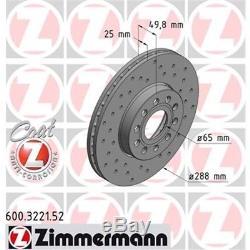 Original Zimmermann Sport Bremsen 2 Bremsscheiben 4 Bremsbeläge Vorne