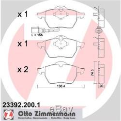 Original Zimmermann Sport Bremsen Set 2 Bremsscheiben + 4 Bremsbeläge Vorne