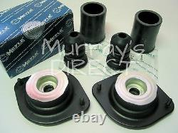 Pair MEYLE Front Top Mount Mounts Bump Stops & Covers Mk1 VW Golf GTI Scirocco