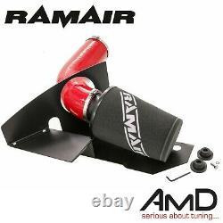 RAMAIR Golf MK6 GTi Induction kit & Heat Shield EA888 Air Filter Kit Red Hose