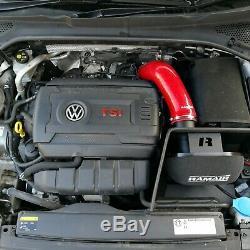 RAMAIR MK7 Golf GTi Induction Kit Air Filter with Heat Shield & Red Intake Hose