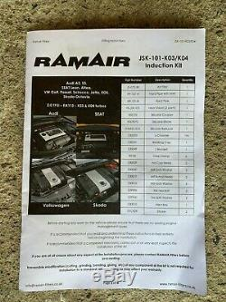 Ramair Induction Kit Audi A3 8P Skoda Octavia 1Z Seat Leon 1P VW Golf GTI MK5