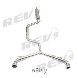 Rev9 Catback Straight Pipe Exhaust Kit For Vw Golf Gti Mk7 15-17 2.0t Turbo