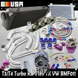 T3/T4 Turbo Kit+Oil Cooler Kits fit 98-05 VW Golf Jetta GTI 1.8T Bolt on
