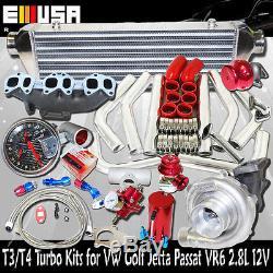 T3/T4 Turbo Kits for VW Golf 02-05 GTI VR6 Hactchback 2D 2.8L V6 DOHC/SOHC ONLY