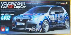 TAMIYA 1/10 RC Volkswagen Golf GTI Cup Car TT-01-E Model Kit 58410 from Japan