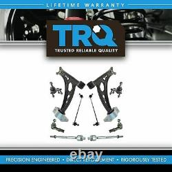 TRQ 10pc Steering Suspension Kit Lower Control Arms Ball Joints Tie Rods Links
