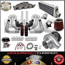 Turbo Kit T3/T4 for VW 1.8T GOLF JETTA MK4 AUDI A3 TT FMIC PK WG BOV Manifold BK
